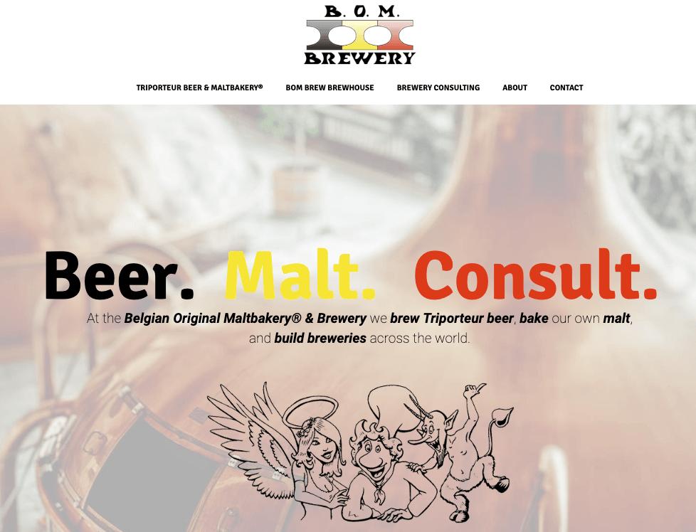 Nieuwe websites voor BOMBrewery: schol
